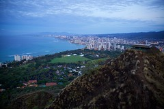 Waikiki Dawn (cookedphotos) Tags: canon 5dmarkii travel hawaii oahu diamondhead crater diamondheadcrater volcano hike hiking dawn waikiki honolulu