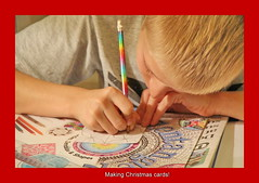 Christmas Cards (zinnia2012) Tags: zentangles boy concentration grandson drawing zinnia2012
