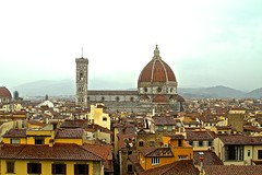 VIEW OF CATHEDRALE DI SANTA MARIA DEL FIORE, FLORENCE, ITALIA. VIEW FROM THE TOWER OF  PALAZZO VECCHIO (SETIANI LEON) Tags: from santa italy tower del canon eos florence italia view maria tuscany 7d di firenze fiore toscane palazzo italie cathedrale vecchio the of
