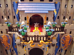 Betrothed Princess (Dursaflare) Tags: castle water bed bedroom king lego princess lion prince medieval queen knights diningroom tables huge ghosts portal walls witches archery skeletons yeti bats throne dungeons genie sorceress wizards waterwell legocastle pianoorgan blueking lioncrest