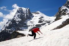 My son wishing he had mountain boots on (popinjaykev - living the Italian dream) Tags: italy snow mountains grande abruzzo corno pratiditivo