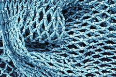 fishing net (Mimadeo) Tags: blue fish color detail texture net thread closeup port grid harbor fishing marine mess background fishnet knot equipment catch nylon fishingnet
