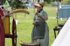 Citizen Cecilia gives Direction (drbeanes) Tags: history living fort guard baltimore citizens mchenry