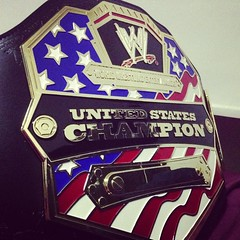 (imranbecks) Tags: blue red usa white us championship belt united replica states title wwe commemorative instagram uploaded:by=flickrmobile flickriosapp:filter=nofilter