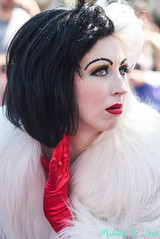 Sick of the Queen's Crap (Michelle R Hall) Tags: california de disneyland disney resort 101 land devil villain dlr villains dalmatians cruella vil cruie