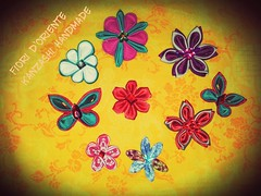 Hana kanzashi  and not only:Also Butterflies as pins or brooches Kanzashi :spille e pinze.  Fioridoriente #handmade    #kawaii #imadeit #japanesefashion #iwantit #imadeit #moda #look #me #giappone #kanzashi #geisha #maiko #kimono #me #giappone #japaesefas (fioridoriente) Tags: flowers flores me fleur look butterfly handmade moda maiko fabric geisha kawaii kimono fiori jewels ideas giappone idee imadeit farfalle kanzashi japanesefashion accessori iwantit tsumamikanzashi fioridoriente japaesefashion