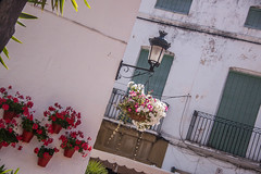 Streetlamp and Flower Pots in Marbella, Spain (ChrisGoldNY) Tags: city travel flowers windows urban canon poster lights spain europe forsale streetlamps streetlights andalucia espana spanish viajes posters albumcover balconies walls bookcover bookcovers marbella albumcovers licensing chrisgoldny chrisgoldberg chrisgold chrisgoldphoto chrisgoldphotos