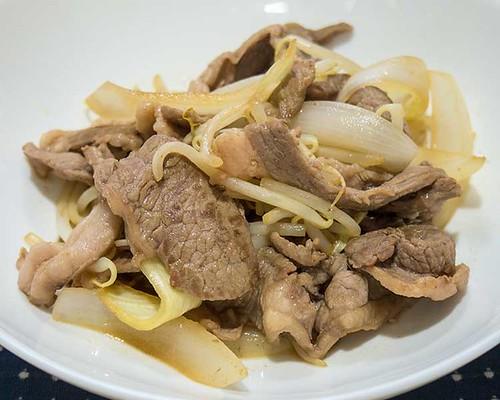 ラム肉の炒めもの