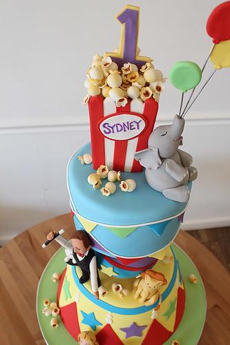 Circus Carnival Cake Closeup