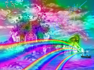 LARRY CARLSON, Rainbow Unicorn Island, 2014.