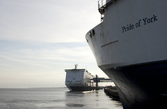 Pride of York and the Pride of Hull (mark_fr) Tags: york river george dock king yorkshire pride east hull imo yorks 9208629 8501957