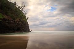 Kalalau Beach, Nā Pali Coast, in the rain. (kyounger3) Tags: ocean longexposure beach hawaii coast kauai napali kalalaubeach nāpali canon6d bw30nd