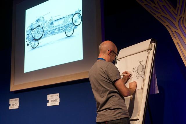 Joe Berger live drawing