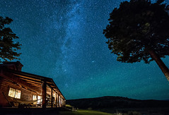 Milky Way Lodge (acase1968) Tags: ranch sky night oregon lens lights cabin woods nikon clear southern andromeda galaxy astrophotography aurora nikkor northern beatty rooney borealis d600 天の川 f28g 1424mm