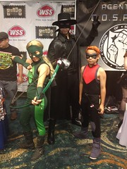 Red Arrow & Artemis Cosplay with Zorro (Trinity All-Stars) Tags: red beach justice costume long comic expo cosplay young longbeach trinity arrow artemis zorro con allstars 2014 longbeachcomicexpo lbce lbce2014 longbeachcomicexpo2014