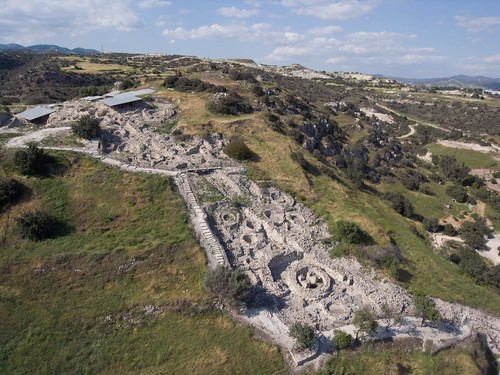 Neolithic site of Khirokitia (Cyprus). Kite aerial photography.