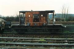 19891216 008 Barnetby. BR 20T Brakevan ZTO (CAO) DB953861 (15038) Tags: wagon br trains goods cao railways freight britishrail brakevan barnetby zto 953861