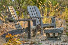 Lake Michigan ... seating for two (Ken Scott) Tags: summer usa beach sunrise waterfront chairs michigan august lakemichigan greatlakes hdr freshwater 2014 grandtraversebay leelanau earlylight 45thparallel e2e kenscott arthike etoe leg14 equinoxtoequinox kayekrapohl