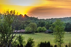 """Sunset on the Farm"" (Everett Leigh) Tags: sunset club clouds southcarolina chester sportsman poulos"