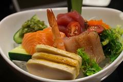 Mixed Sashimi @ Jinju Sushi (amandapanda) Tags: food sushi japanese sashimi salmon shrimp seafood tuna yummies