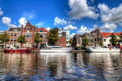 Spaarne reflections (McQuaide Photography) Tags: holland haarlem water netherlands spaarne canon river boot eos boat europe nederland wideangle dslr hdr lightroom uwa rivier wideanglelens ultrawideangle tonemapped photomatixpro 100d 1018mm mcquaidephotography