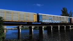 Moter Crik (Stalkin The Lines) Tags: railroad graffiti railway trains freighttrains trainbridge freights autorack rollingstock moter crik benching grandtrunkwestern bechingfreights