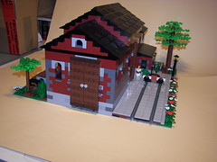 Train Shed (Lotso Psychobear) Tags: city train lego shed moc
