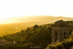 Golden Valley (Lorenzo.Furlanetto) Tags: old light sunset italy orange mountains tower canon eos 50mm dusk 14 usm ef cori latium 550d pontini
