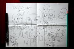 Estudo sobre Sebastião Salgado (Saulo Cruz) Tags: brasília cartoon ccbb palestra draw papel desenho caricatura pensamento esboço nanquim sebastiãosalgado saulocruz fototiras