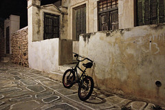Folegandros /  (Vasilis Mantas) Tags: street sea summer bike bicycle night canon island greek photography holidays shot aegean hellas greece 1740 cyclades folegandros 500d        vmantas vmantasphotography