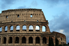 Colosseum at dusk (sophs123.) Tags: travel italy rome architecture colosseum interrail