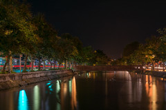 Color of Night (A.Stepanov) Tags: city light shadow cars water night 35mm thailand flow nikon asia cityscape walk chiangmai nikkor d5200 35mmf18g
