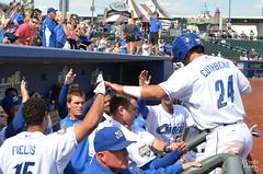 2014 / Minda Haas (Minda Haas Kuhlmann) Tags: nebraska baseball omaha champions playoff highfives pacificcoastleague milb inthedugout omahastormchasers