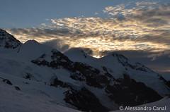Primo sole sul Monte Rosa