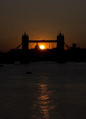 Tower Bridge at sunset (Dick Bulch) Tags: sunset towerbridge stpaulscathedral riverthames siloette cityoflondon londonatnight