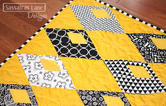 Diamond Detour featuring Black & White Prints (Sassafras Lane Designs) Tags: diamonds pattern quilt sewing diamond lane quilting prints designs detour sassafras