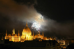 Fireworks Show in Budapest on St. Stephen's Day 2014 August 20. - 43 (Romeodesign) Tags: longexposure night hungary fireworks budapest explosion ceremony parliament illuminated celebration national parlament ststephen 550d