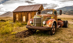 Eagle's Nest Truck (davecurry8) Tags: storm newmexico car weather truck rust taos eaglenest