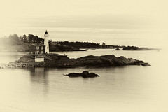 Fisgard Lighthouse with Antique Plate Treatment (jpmckenna - What Next????) Tags: vancouverisland esquimalt ligthouse fisgardlighthouse fortroddhill