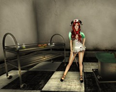 Nurse_005 (kittie887) Tags: naughty blood shadows mesh sl secondlife nurse bloody physique windlight slink