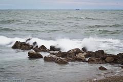 fall sea (pucciarellic) Tags: sea rocks rocce mare effettoseta seta longexposure silky silkysea civitavecchia italia italy canon eos 600d 50mm fall autunno