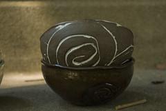 two small bowls dark clay swirl sides (karenchristine552) Tags: utata:project=goarts ceramics clay pottery universitycity westphiladelphia