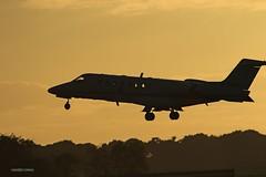 G-OSRL Learjet 45 J78A2571 (M0JRA) Tags: doncaster sheffield robin hood airports ils gosrl learjet 45 planes landing smoke jets flying aircraft