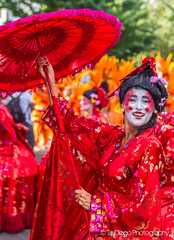 Notting Hill   TrinDiego (TrinDiego) Tags: carnival nottinghill costume street party festival parade london 2016 beauty beautiful catchy colour red parasol chinese lady streetphotography catchcolours uk performer bright oriental nottinghillcarnival