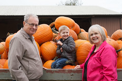 posing with pumpkins (embem30) Tags: cravenfarm pumpkinpatch halloween evan bonnie bruce