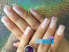 Uas Acrlicas Francesas con decorado en Gel Glitter (Acrylic Nails French with Glitter Gel) (topnails.chile) Tags: nails nailart nailsart nail uas uasdecoradas uasacrlicas uasgel artnail artnails topnails topnailscl swarovski acrlicas acrylic glitter glam uoa enamel french unasacrilicas acrylicnails nailspolish nailswang nailsdesing nailstyle