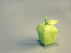 Origami Apple (Himanshu (Mumbai, India)) Tags: origami apple himanshu mumbai india commercial work design art craft paper paperfolding object fruit health nutrition himorigami himanshuorigami orukami himanshuagrawal green modern contemporary