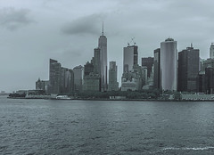 """""""Color of Autumn 2016 In NYC"""" (Monochrome Photo Of Skyscrapers In Lower Manhattan Including World Trade Center In View) (nrhodesphotos(the_eye_of_the_moment)) Tags: dsc0097972 theeyeofthemoment21gmailcom wwwflickrcomphotostheeyeofthemoment monochrome blackandwhite outdoor skyline skyscrapers reflections shadows waterfront wtc financialdistrict manhattan nyc eastriver hudsonriver piera batterypark plantlife ny harboroutdoortreescolor autumn 2016"""