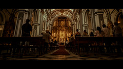Iglesia de San Juan Bautista, Malaga, Spain (emrecift) Tags: candid street photography church malaga andalucia spain cinematic 2391 anamorphic sony a7 alpha canon new fd 24mm f28 wide angle legacy lens emrecift