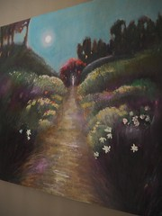 Remembered garden I - The Return (Helen White Photography) Tags: sacredfeminine divinefeminine garden return fullmoon path pathway floral ethereal sacred spiritual oiloncanvas oilpainting art helenwhiteartist